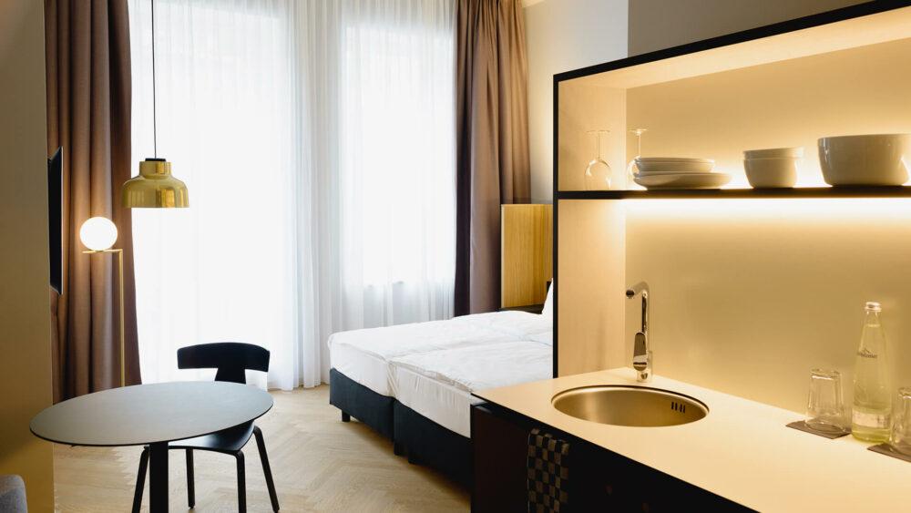 Melter Hotel & Apartments Nürnberg Komfort Apartment mit Küchenzeile