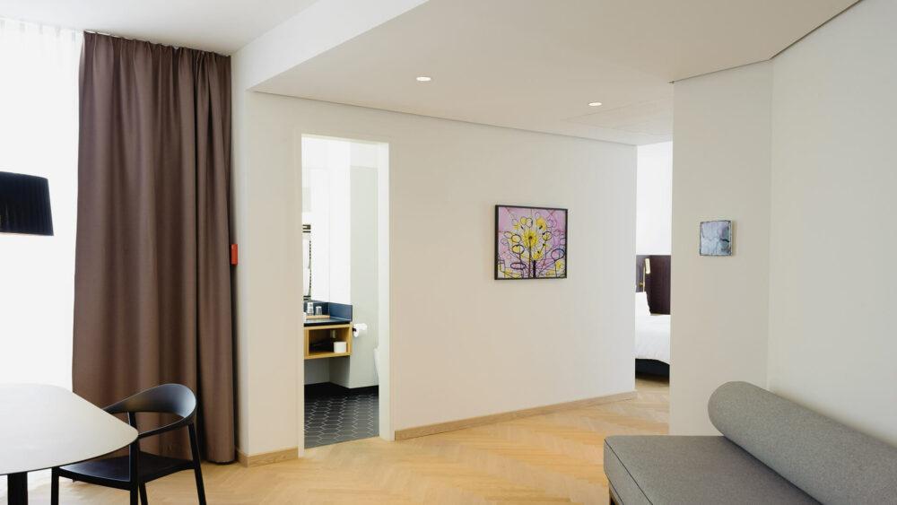 Melter Hotel & Apartments Nürnberg Deluxe Apartment mit Parkettboden