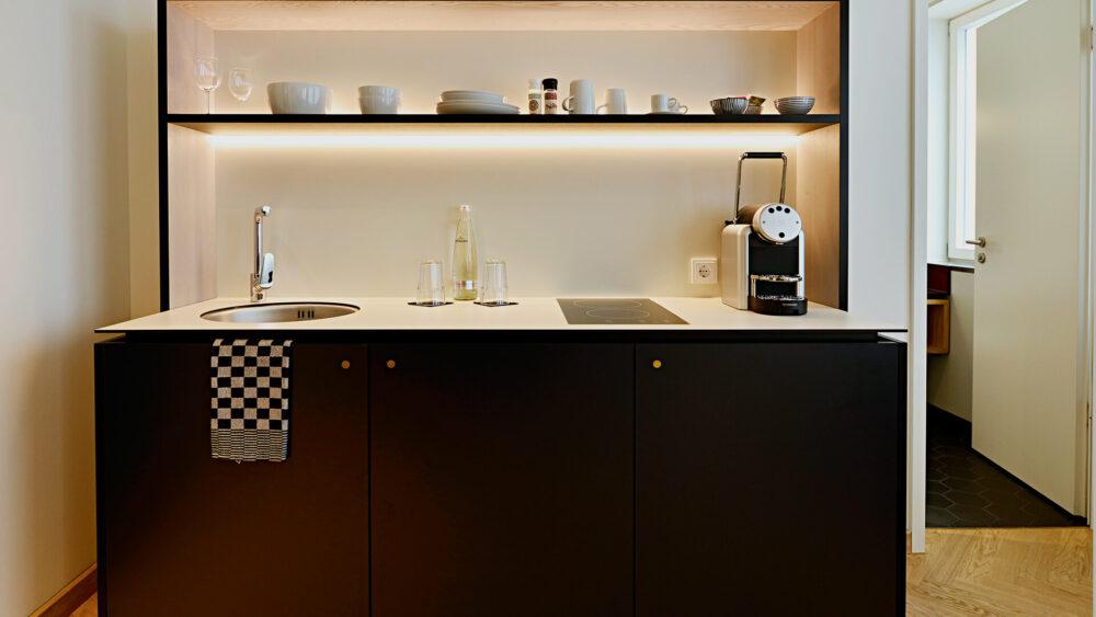 Melter Hotel & Apartments Nürnberg Komfort Apartments Küchenzeile